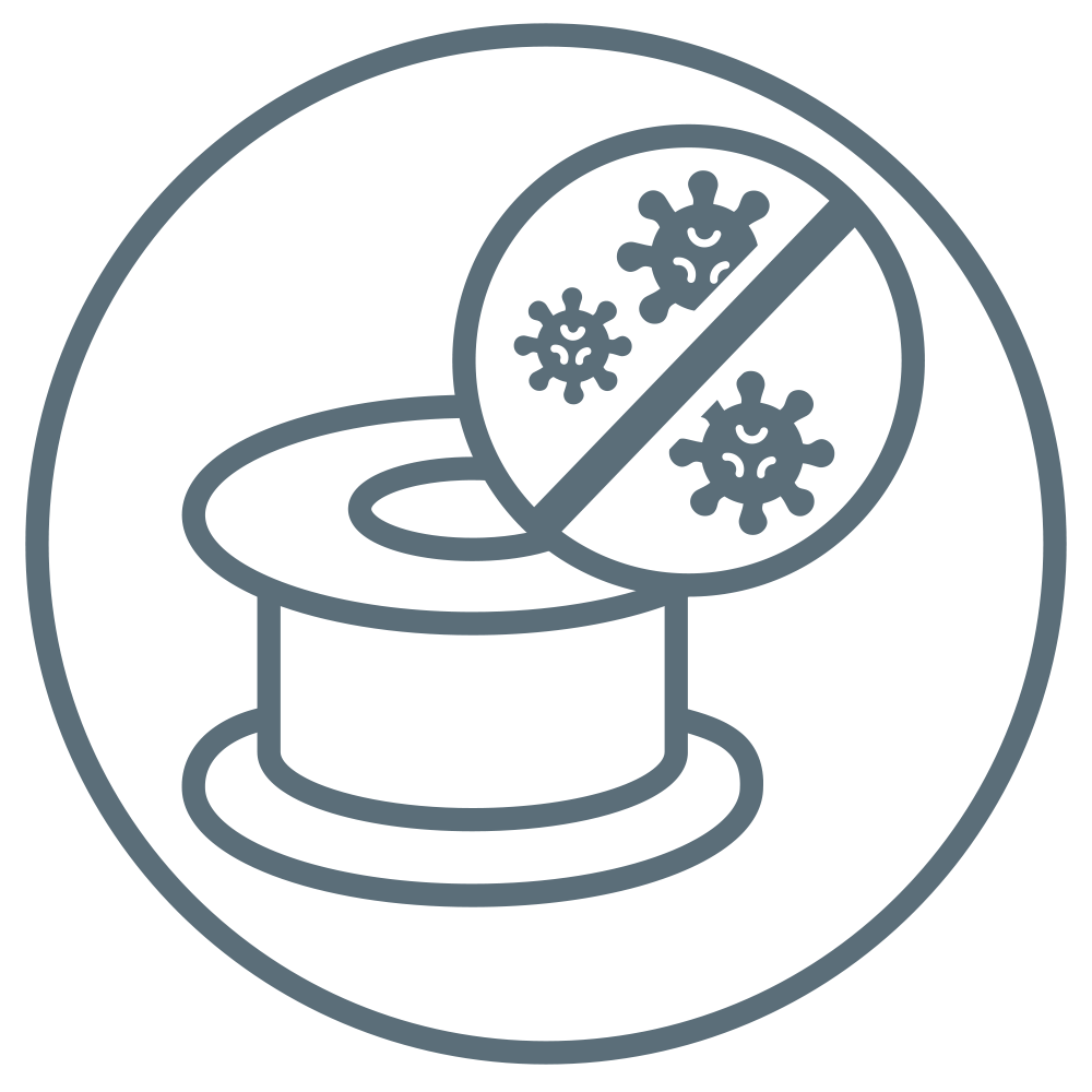 Anti-microbial spool holding medical tape.