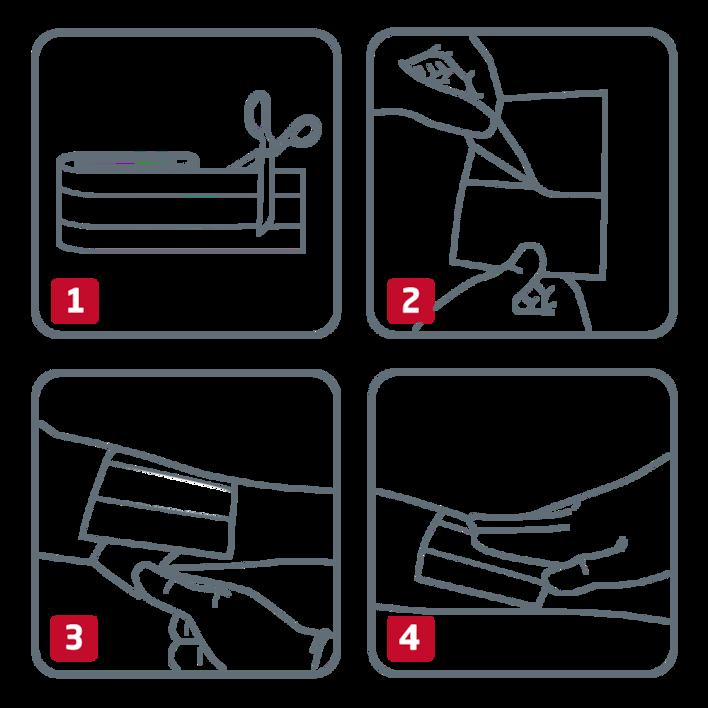 How to use Leukoplast bandage strips