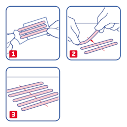 How to use Leukosan strip