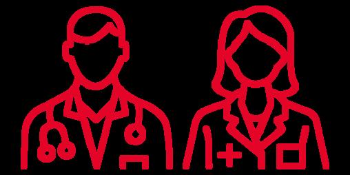 Pictogram showing a medical expert.
