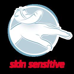 Leukoplast skin senstive benefit icon feather touching hand