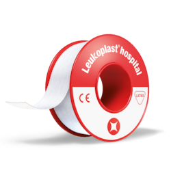 Product shot of Leukoplast hospital tape
